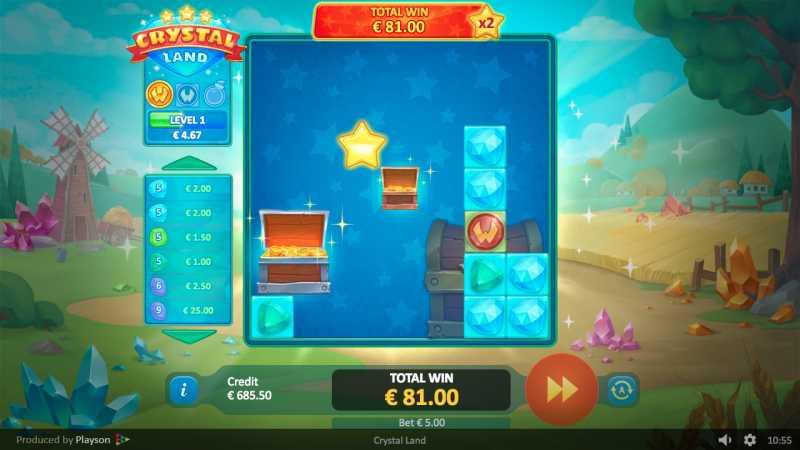 La machine a sous Crystal Land de Playson dans les casinos en ligne de France.-min