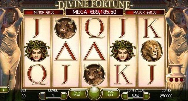 La machine a sous Divine Fortune de Netent-min