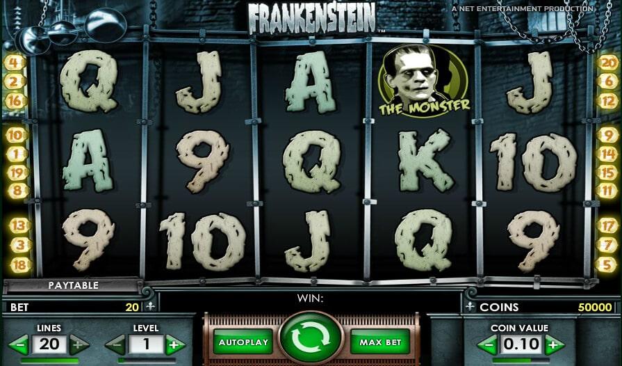 La machine a sous Frankenstein de Netent-min