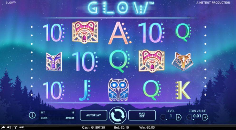 La machine a sous Glow de Netent-min (2)