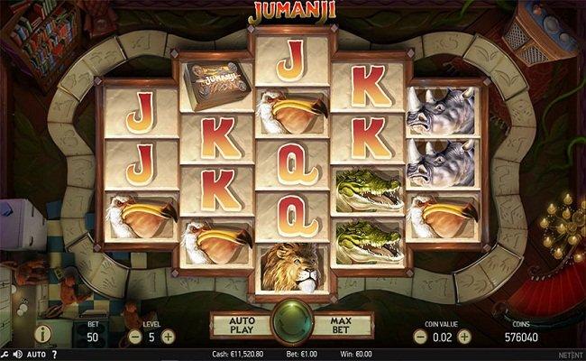 La machine a sous Jumanji de Netent dans les casinos en ligne de France-min