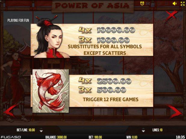 La machine a sous Power of Asie de Fugaso .-min