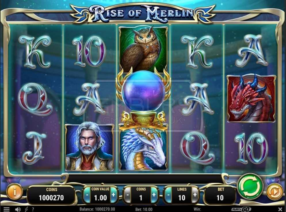 Rise of Merlin de Play 'N Go dans les casinos de France-min