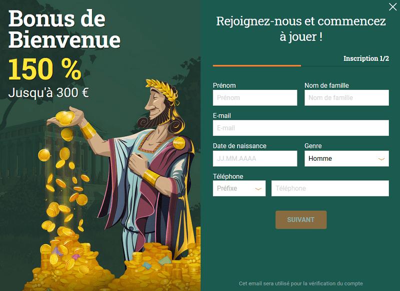 casino cresus ou cresuscasino inscription gratuite bonus de bienvenue pour les clients français