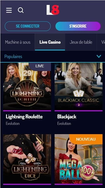 casino lucky8 lucky 8 casino en ligne sur smartphone
