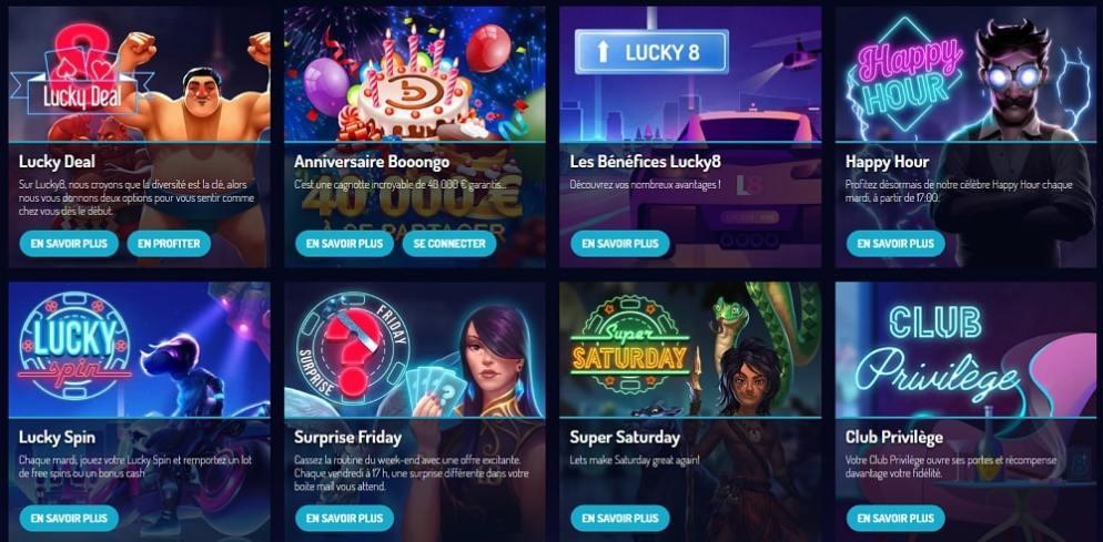 casino lucky8 machines a sous gratuite et bonus gratuits sans depot