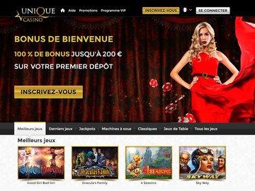 casino unique code bonus
