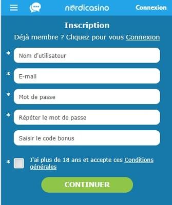 nordi casino inscription gratuite bonus gratuit de bienvenue casino en ligne fiable et serieux