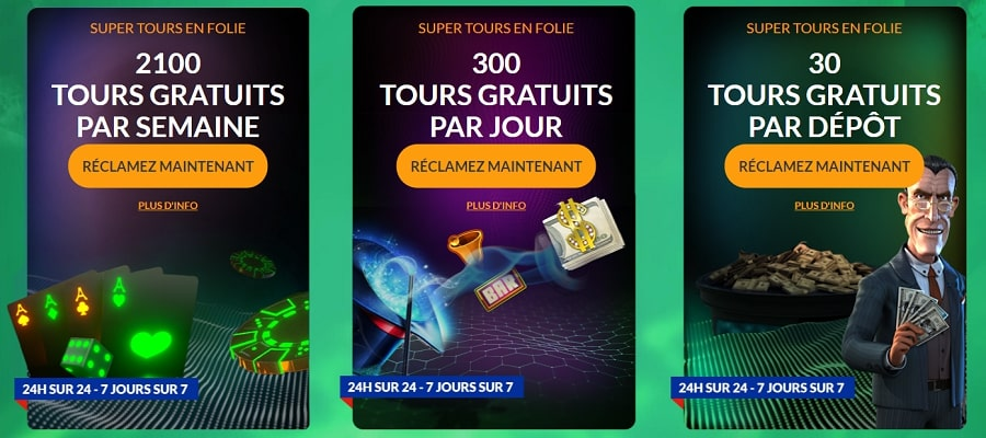 spinmillion casino code bonus de recharge
