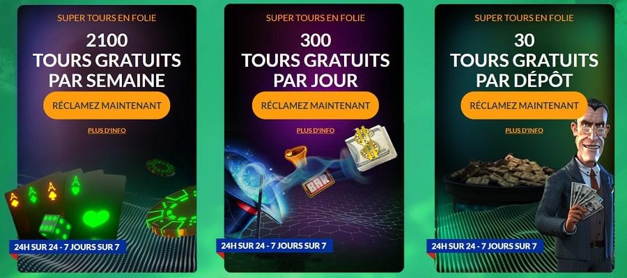 spinmillion casino code bonus de recharge
