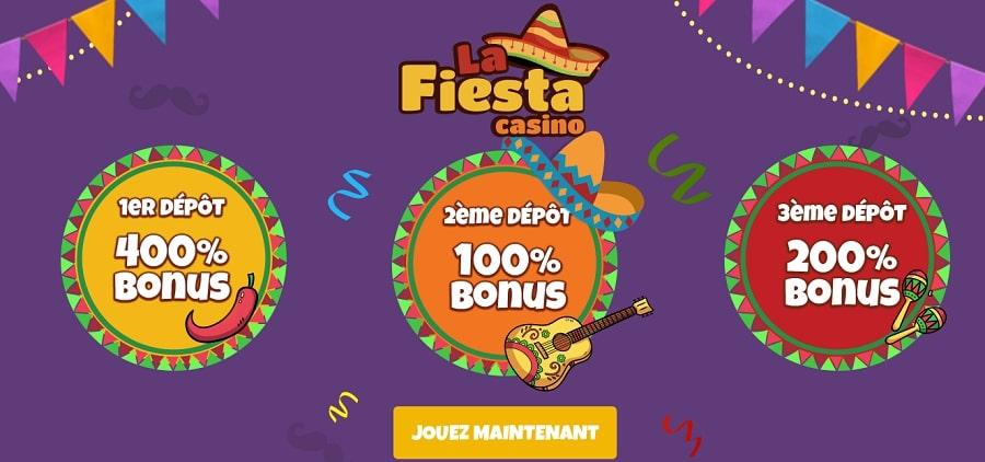 casino la fiesta bonus gratuit sans depot