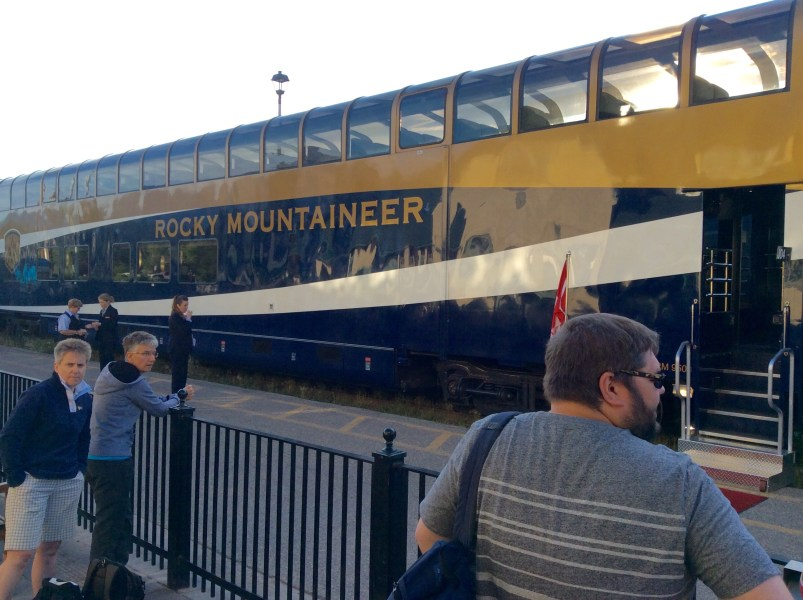 Rocky Mountaineer Gold Leaf Service dome coach