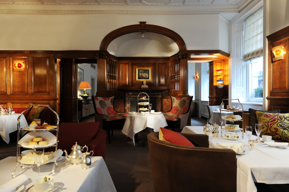 English Tea Room at Brown's Hotel in London England
