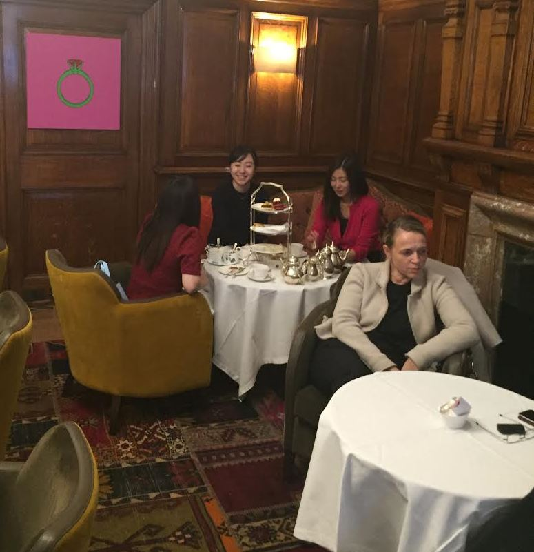 Agatha Christie's favorite corner for Afternoon Tea at the English Tea Room