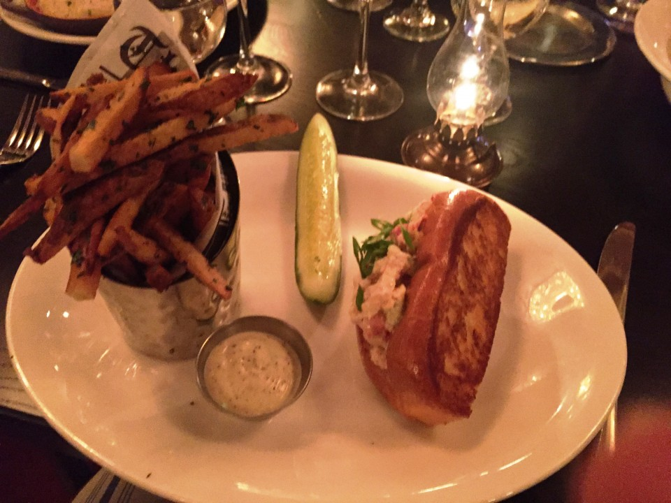 Pennsylvania 6 DC : Lobster Roll with one-pound poached lobster, celery, green onions, mayonnaise, buttered roll, duck fat fries