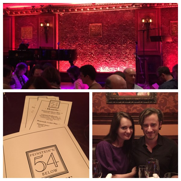 The wonderful ambiance of Feinstein's/54 Below: Broadway at its Best!