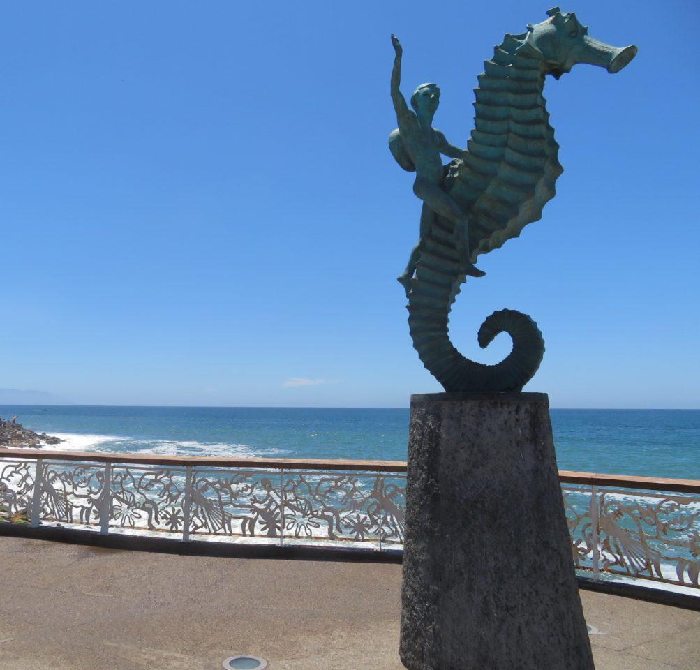 "Puerto Vallarta Favorite Experiences : ""The Seahorse"", Landmark Symbol of Puerto Vallarta by Rafael Zamarripa"