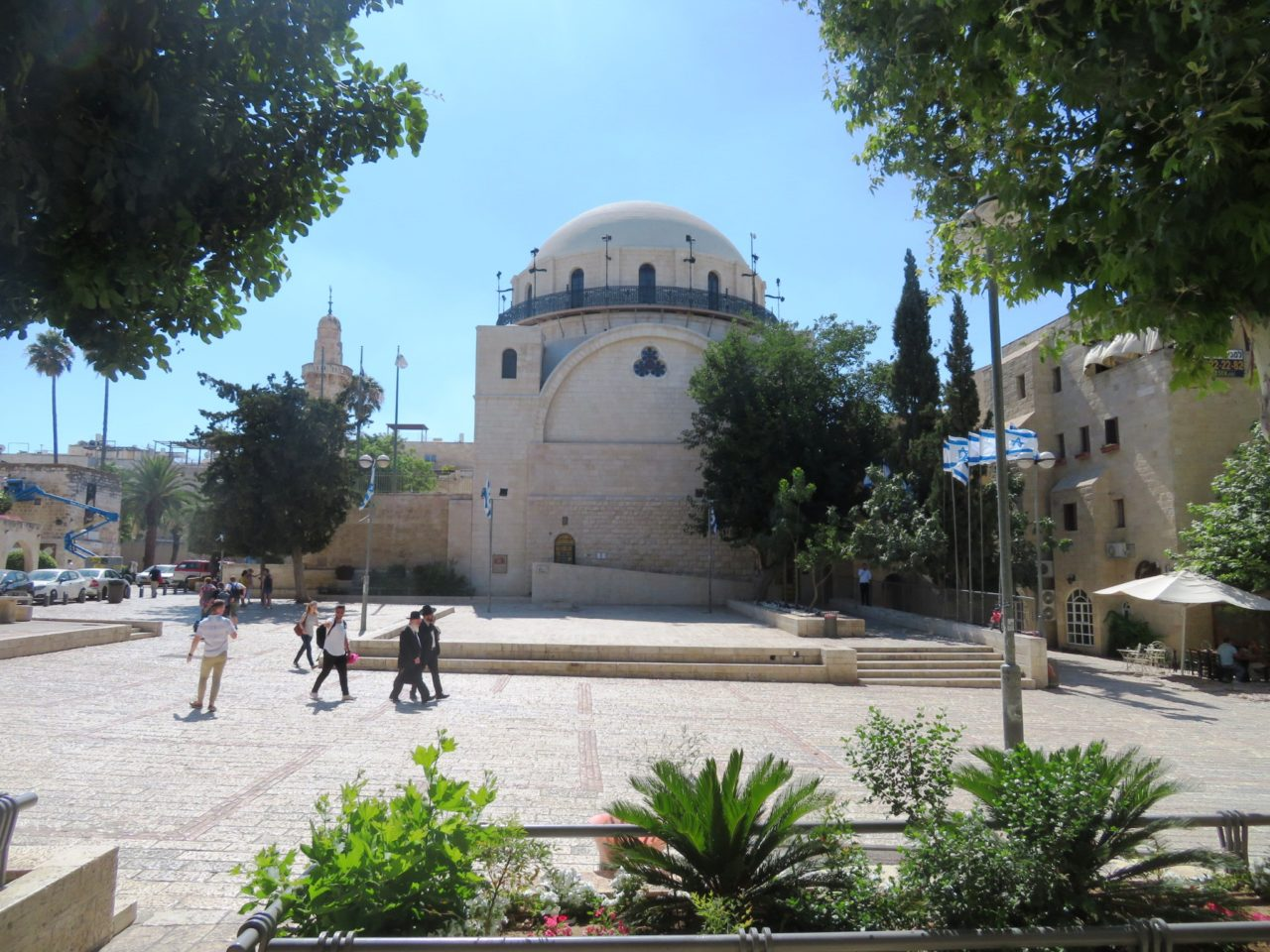 The joys of walking Jerusalem - The Hurva Synagogue in the main square of the Jewish Quarter of the Old City
