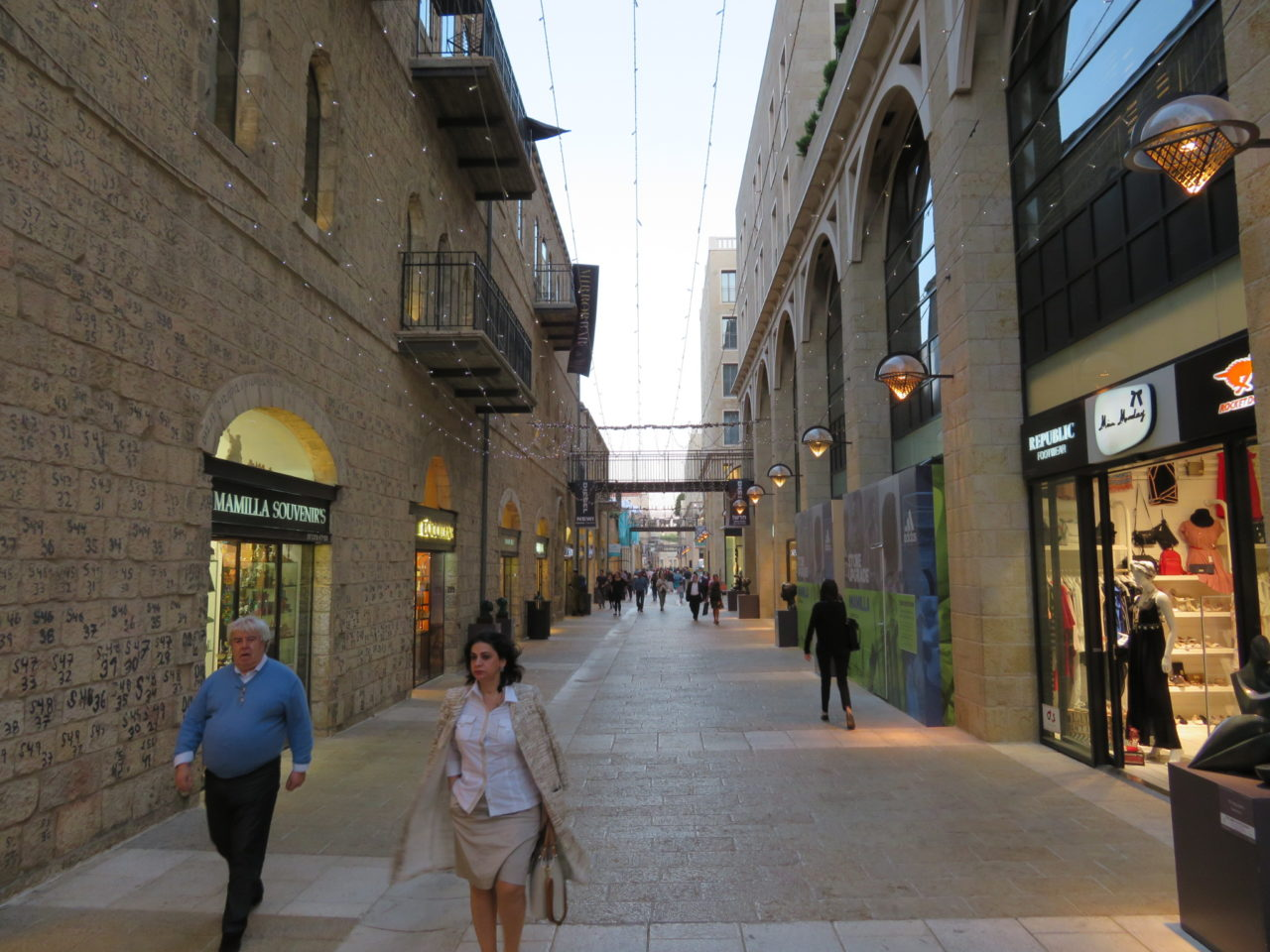 Vacationing in Israel ... Mamilla Mall links the Mamilla Hotel with Jaffa Gate and the Old City of Jerusalem