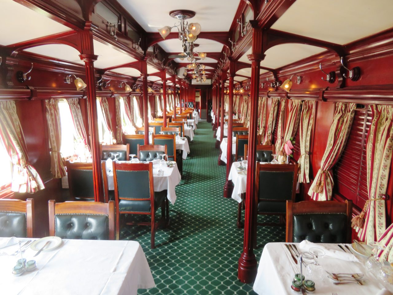 The dining car aboard <strong>Rovos <em>Rail</em></strong>