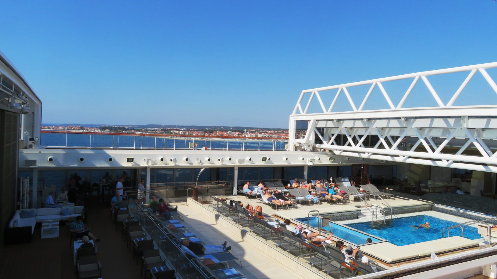 <em><strong>Viking Ocean Cruise Ships ~</strong> </em> Main Pool area on the Viking Star