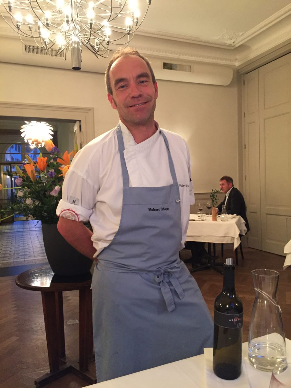 Chef Hubert Mayer of the Hotel Krafft Restaurant in Basel, Switzerland