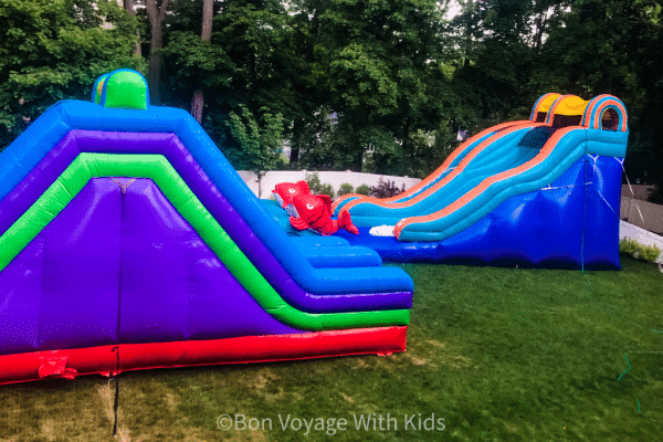 staycation-ideas-for-kids-bouncy-water-slides