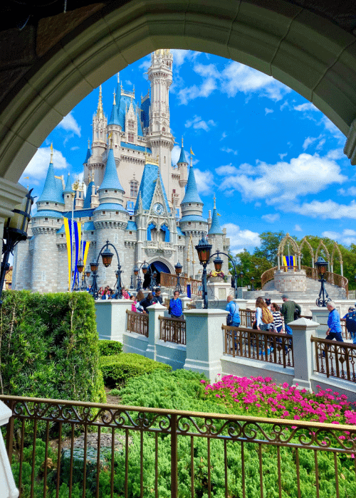 best rides at disney world view of Cinderella's castle