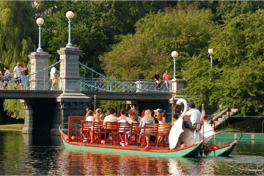 swan boats in Boston