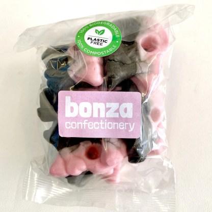 Bonza Confectionery - Rasp + Liquorice Foam Skulls 3