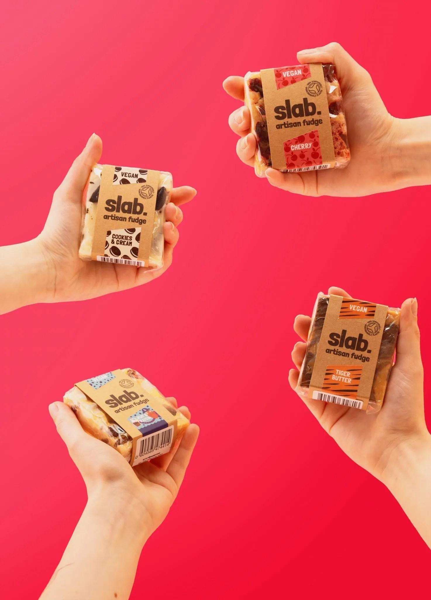 Slab Artisan Fudge Creative Photo - Vegan Hand