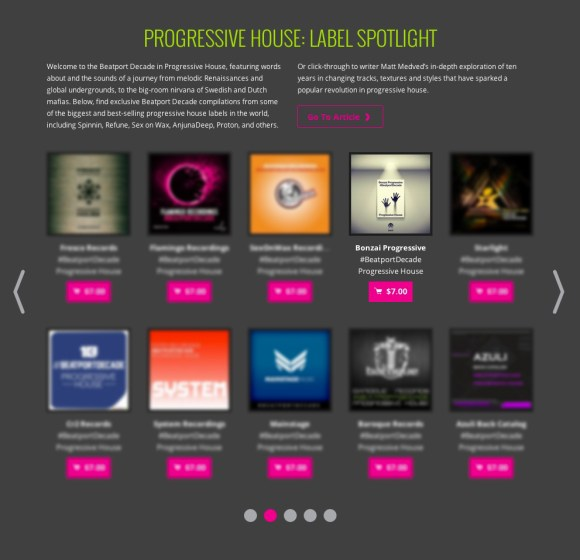 BONZAI PROGRESSIVE #BEATPORDECADE PROGRESSIVE HOUSE FEATURED BY BEATPORT