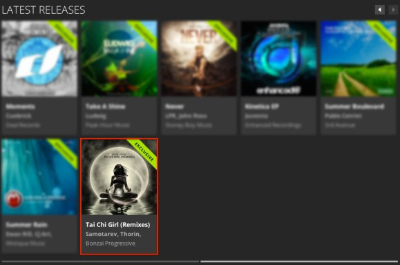 MANU RIGA – TAI CHI GIRL (REMIXES) FEATURED BY BEATPORT