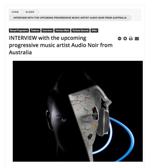 AUDIO NOIR INTERVIEW FOR FLUX BPM ONLINE