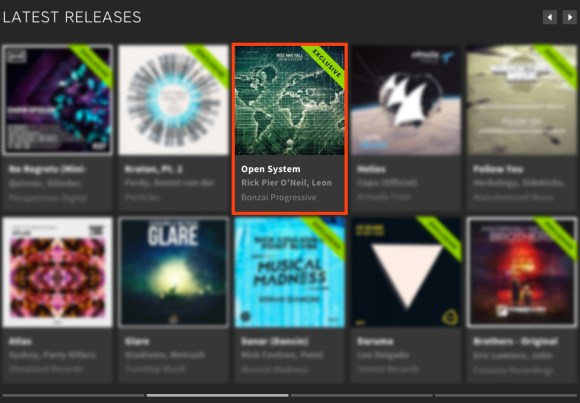 RISE AND FALL – OPEN SYSTEM FEATURED BY BEATPORT