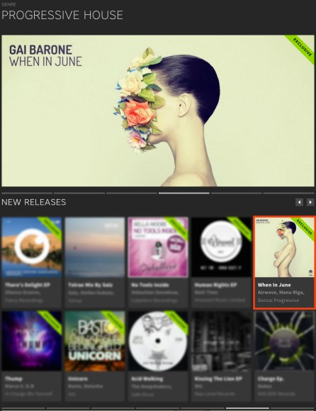 GAI BARONE – WHEN IN JUNE FEATURED BY BEATPORT