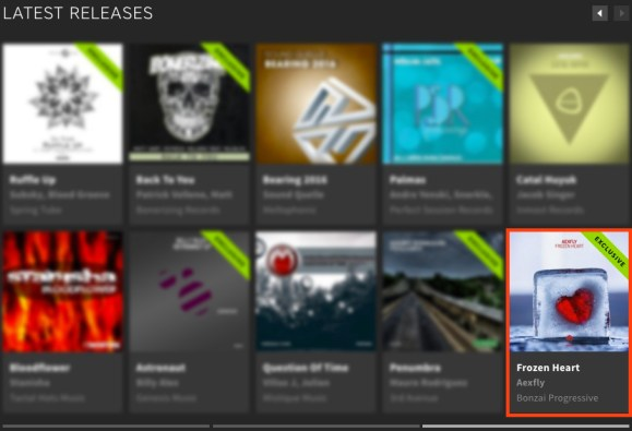 AEXFLY – FROZEN HEART FEATURED BY BEATPORT