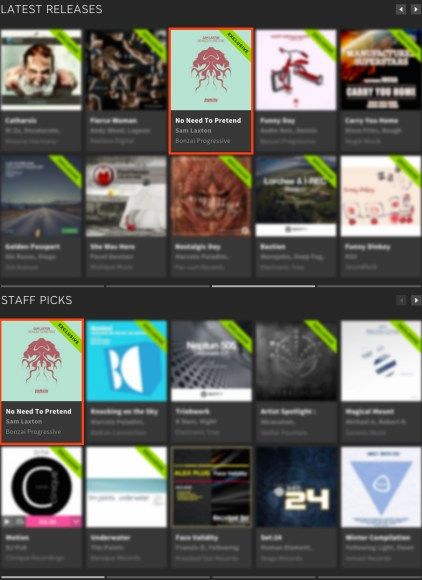 SAM LAXTON – NO NEED TO PRETEND FEATURED BY BEATPORT