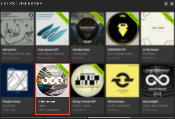 CERILLO – ILL BEHAVIOUR FEATURED BY BEATPORT