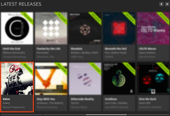 CROCY – VALVE FEATURED BY BEATPORT