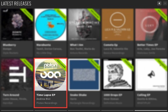 ANDREA RIVI – TIME LAPSE EP FEATURED BY BEATPORT