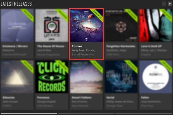 SONSEZ – COSMOS FEATURED BY BEATPORT
