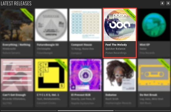 QUICKER BALANCE – FEEL THE MELODY FEATURED BY BEATPORT