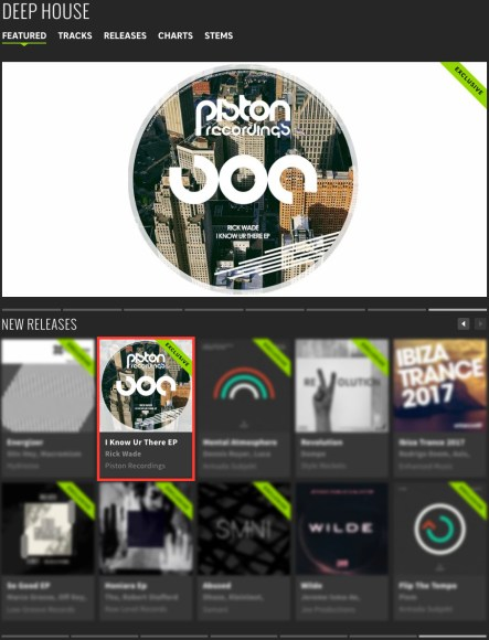RICK WADE – I KNOW UR THERE EP FEATURED BY BEATPORT