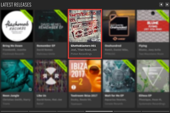 GHETTOBLASTERS 001 FEATURED BY BEATPORT