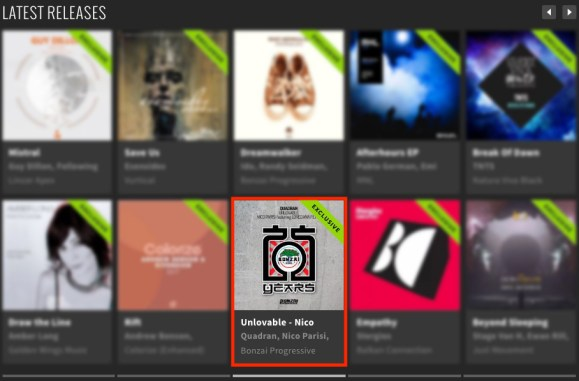 QUADRAN – UNLOVABLE – NICO PARISI featuring LOREDANA REMIX FEATURED BY BEATPORT