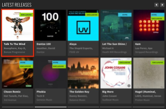 NOOSPHERE – TALK TO THE WIND FEATURED BY BEATPORT