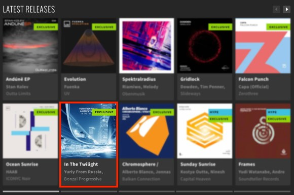 YURIY FROM RUSSIA & HIDDEN TIGRESS – IN THE TWILIGHT FEATURED BY BEATPORT
