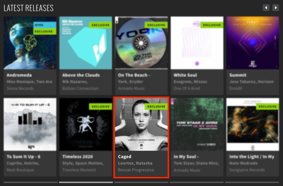 LOORTEX featuring NATASHA SYBERIA – CAGED FEATURED BY BEATPORT