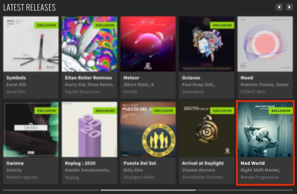NIGHT SHIFT MASTER – MAD WORLD FEATURED BY BEATPORT